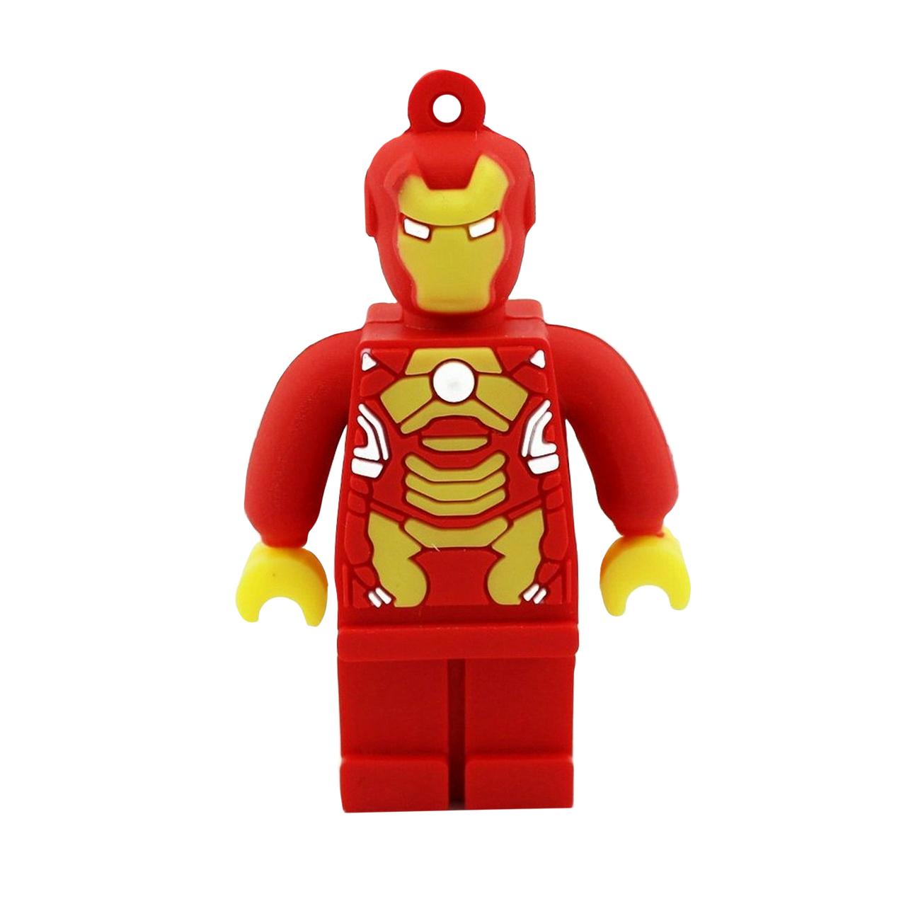 بررسی و {خرید با تخفیف} فلش مموری طرح Lego Ironman مدل DPL1166 ظرفیت 64 گیگابایت اصل