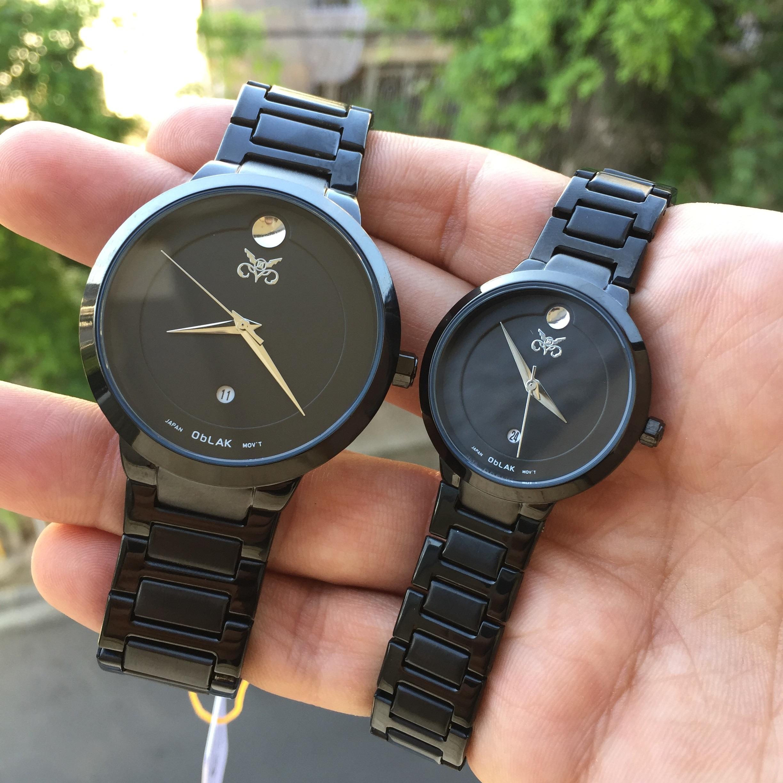 خرید                                     ست ساعت مچی عقربه ای زنانه و مردانه اوبلاک مدل k72694