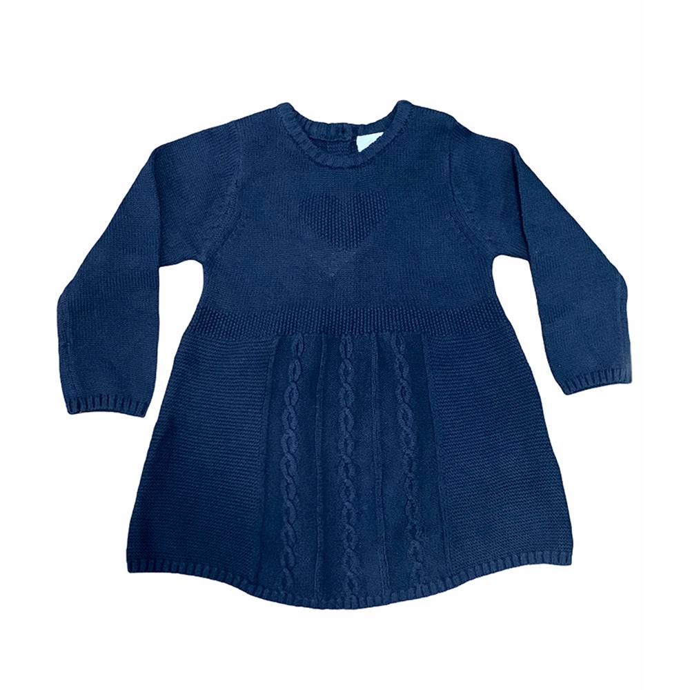 پیراهن بافت نوزادی توپومینی مدل NV-Heart