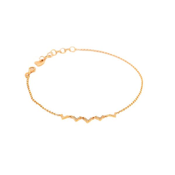 پابند طلا 18 عیار زنانه مدل وی C0005