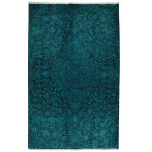 فرش دستبافت رنگ شده سه و نیم متری طرح وینتج کد 2592