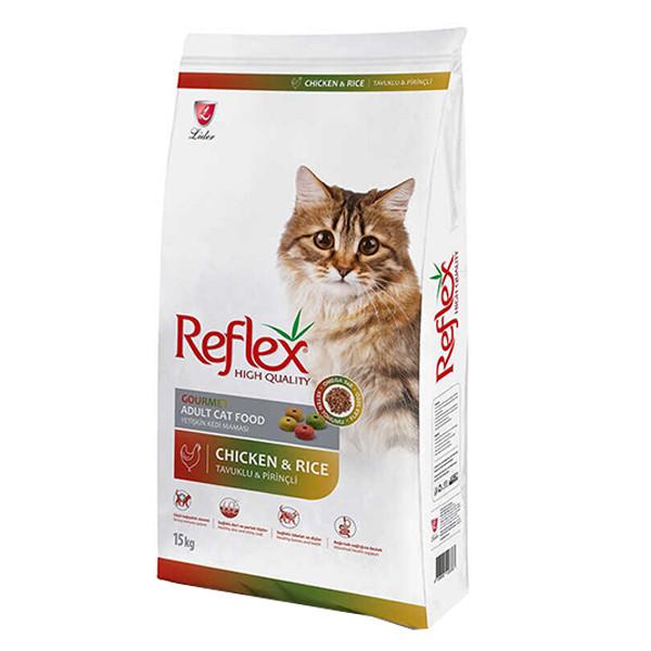 غذای خشک گربه بالغ رفلکس مدل Multicolor New وزن 15 کیلوگرم