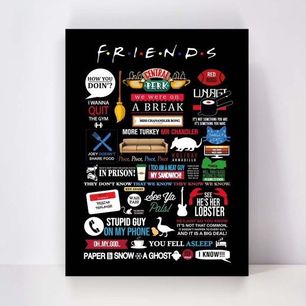 تابلو شاسی مدل Friends کد S-2174