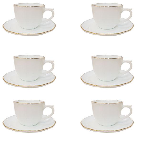سرویس چای خوری 12 پارچه طرح نیلوفری داماس