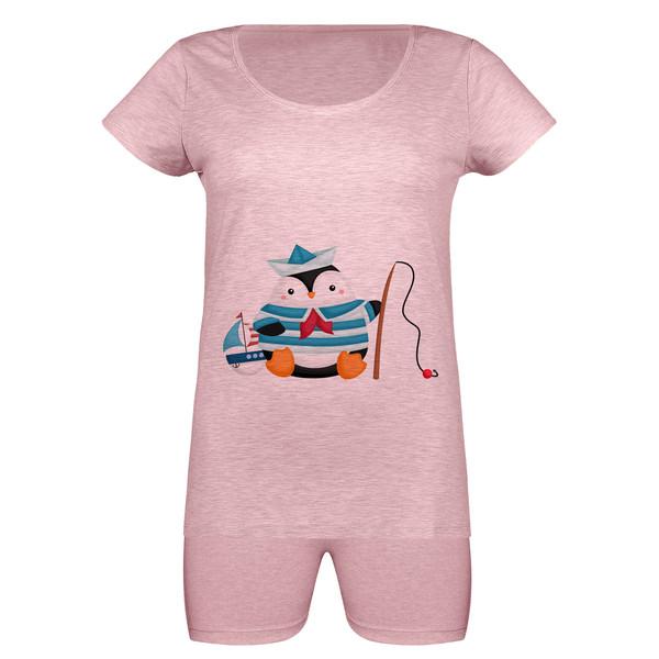 ست تی شرت و شلوارک زنانه مدل SKMSH991028-062