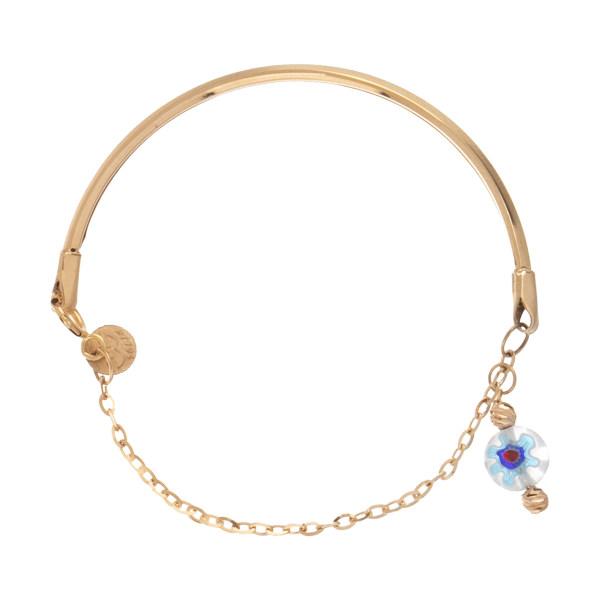 دستبند طلا 18 عیار زنانه مدیسا مدل F1044