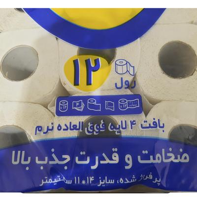 دستمال توالت تانیش مدل Premium Comfort بسته 12 عددی