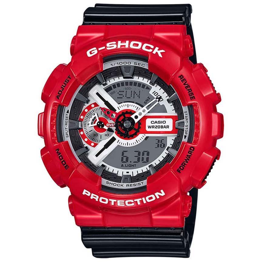 ساعت مچی عقربه ای مردانه کاسیو مدل جی شاک کد GA-110RD-4A              👙
