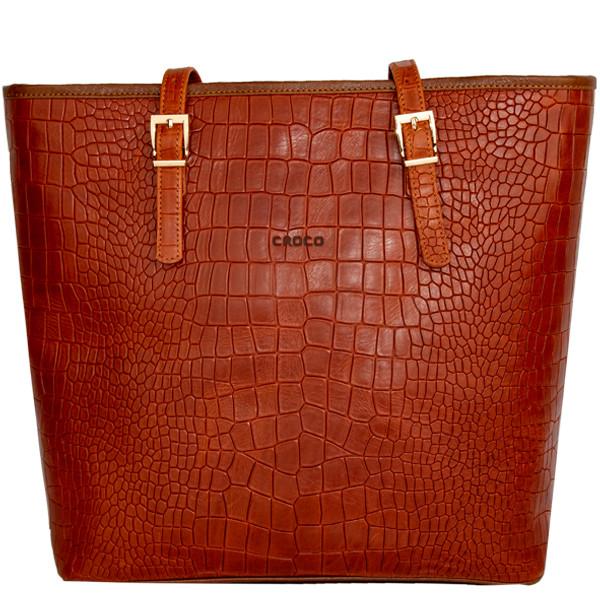 کیف دوشی زنانه چرم کروکو مدل سامانتا