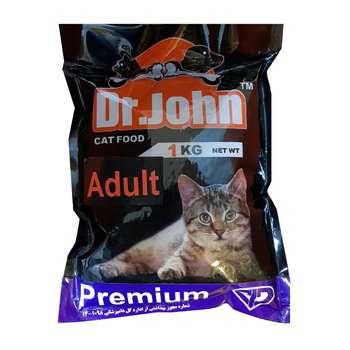 غذای خشک گربه بالغ دکتر جان مدل PREMIUM ADULT وزن 1 کیلوگرم