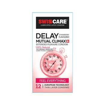 کاندوم سوئیس کر مدل DELAY بسته 12 عددی