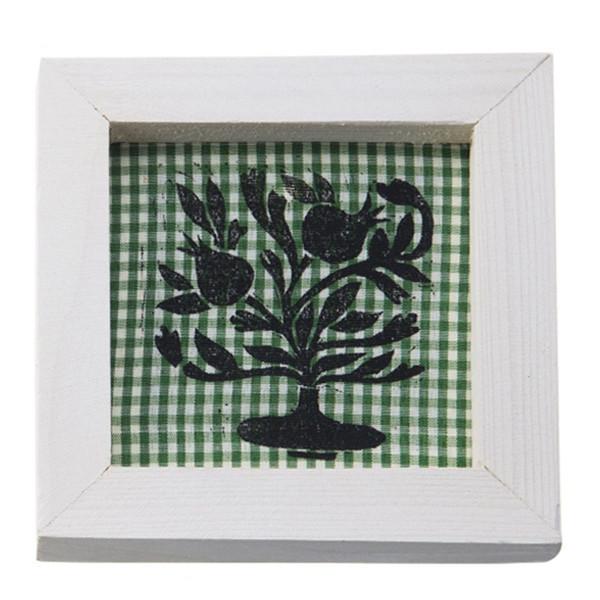 تابلو چوبی چاپ دستی روی پارچه گالری هور نقش 18