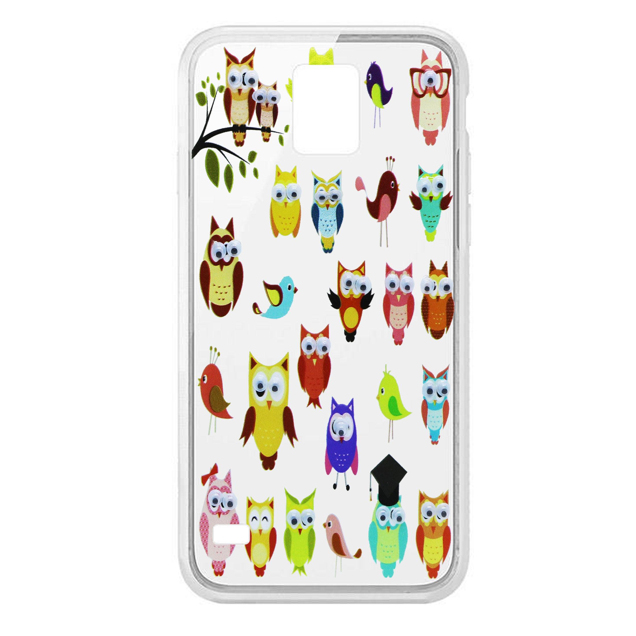 کاور طرح Owl مدل CLR-099 مناسب برای گوشی موبایل سامسونگ Galaxy S5