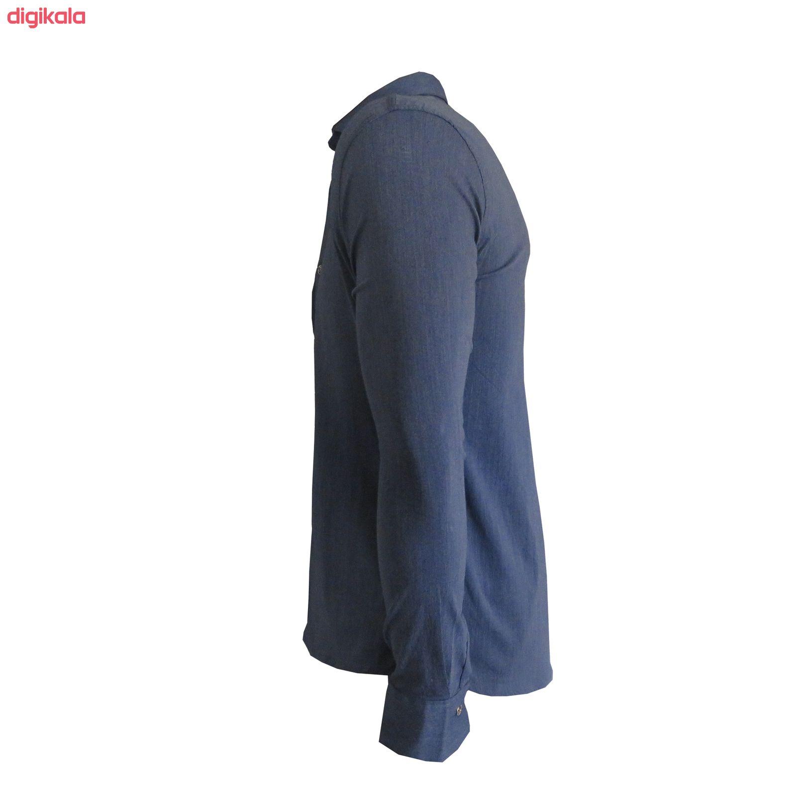 پیراهن مردانه کد PVLFZ9904B3 رنگ آبی main 1 3