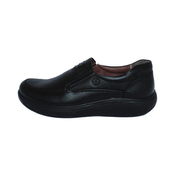 کفش روزمره مردانه ساینا چرم مدل M109 black