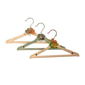 چوب لباسی نوزاد مدل گلهای بهشت مجموعه 3 عددی