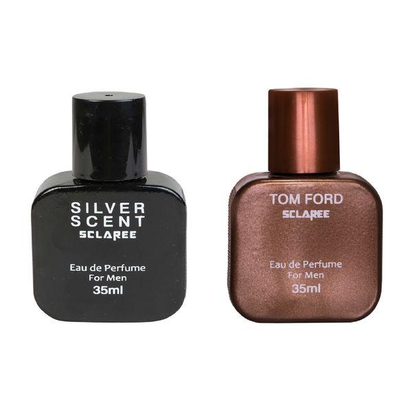 عطر جیبی مردانه اسکلاره مدل Silver Scent حجم 35 میلی لیتر به همراه عطر جیبی مردانه اسکلاره مدل Tom Ford حجم 35 میلی لیتر