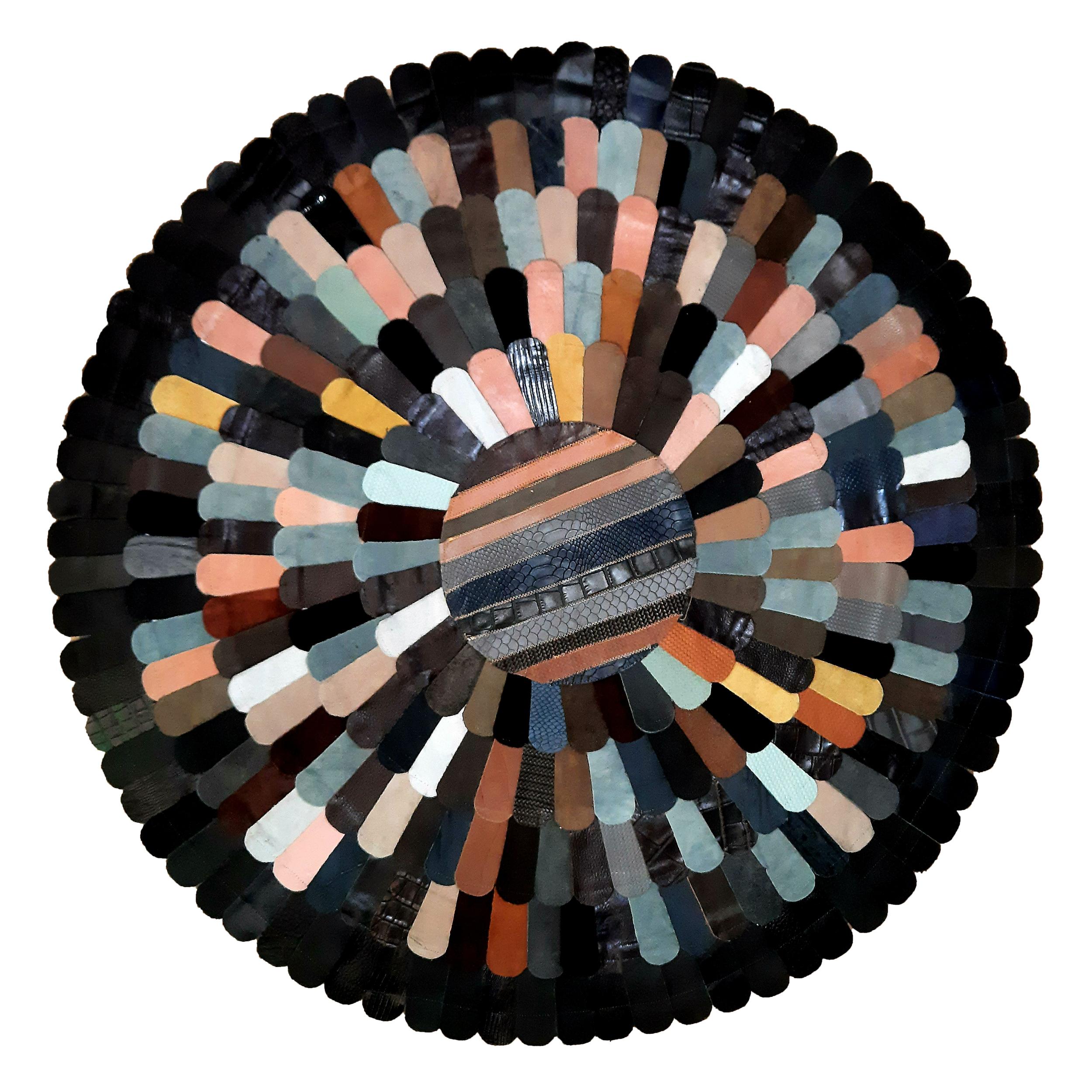 کلاژ فرش چرم و پوست کد 2010