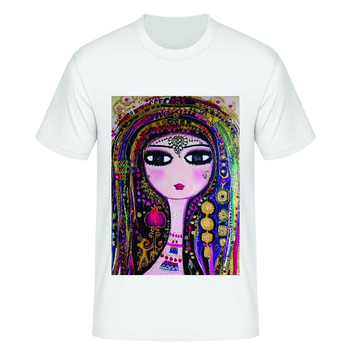 تی شرت آستین کوتاه زنانه مدل شب یلدا کد tps50