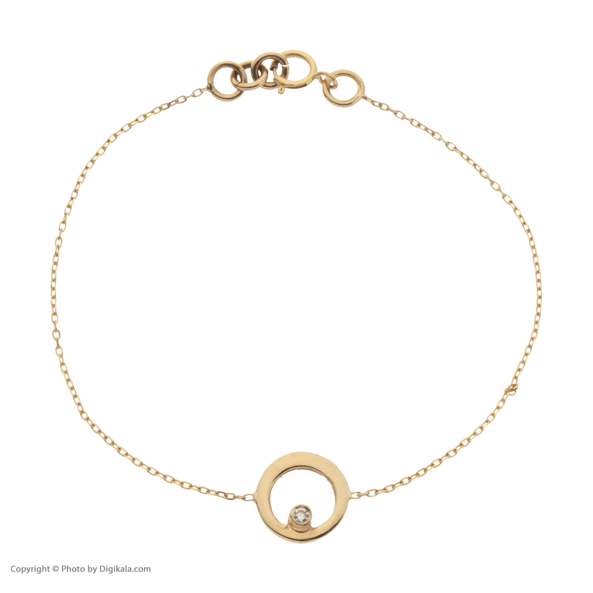 دستبند طلا 18 عیار زنانه سنجاق مدل X085087