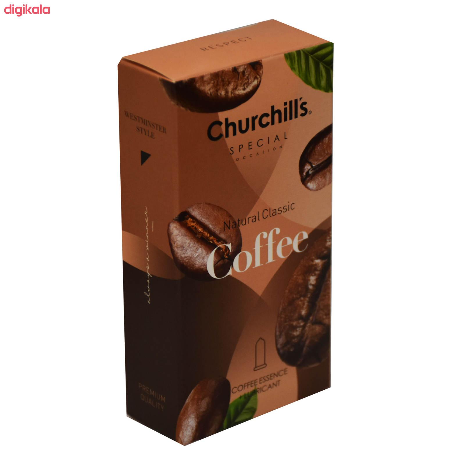 کاندوم چرچیلز مدل Natural Classic Coffee  بسته 12 عددی main 1 3