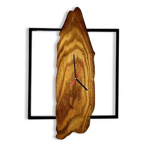 ساعت دیواری چوبی طرح روستیک مدل S102