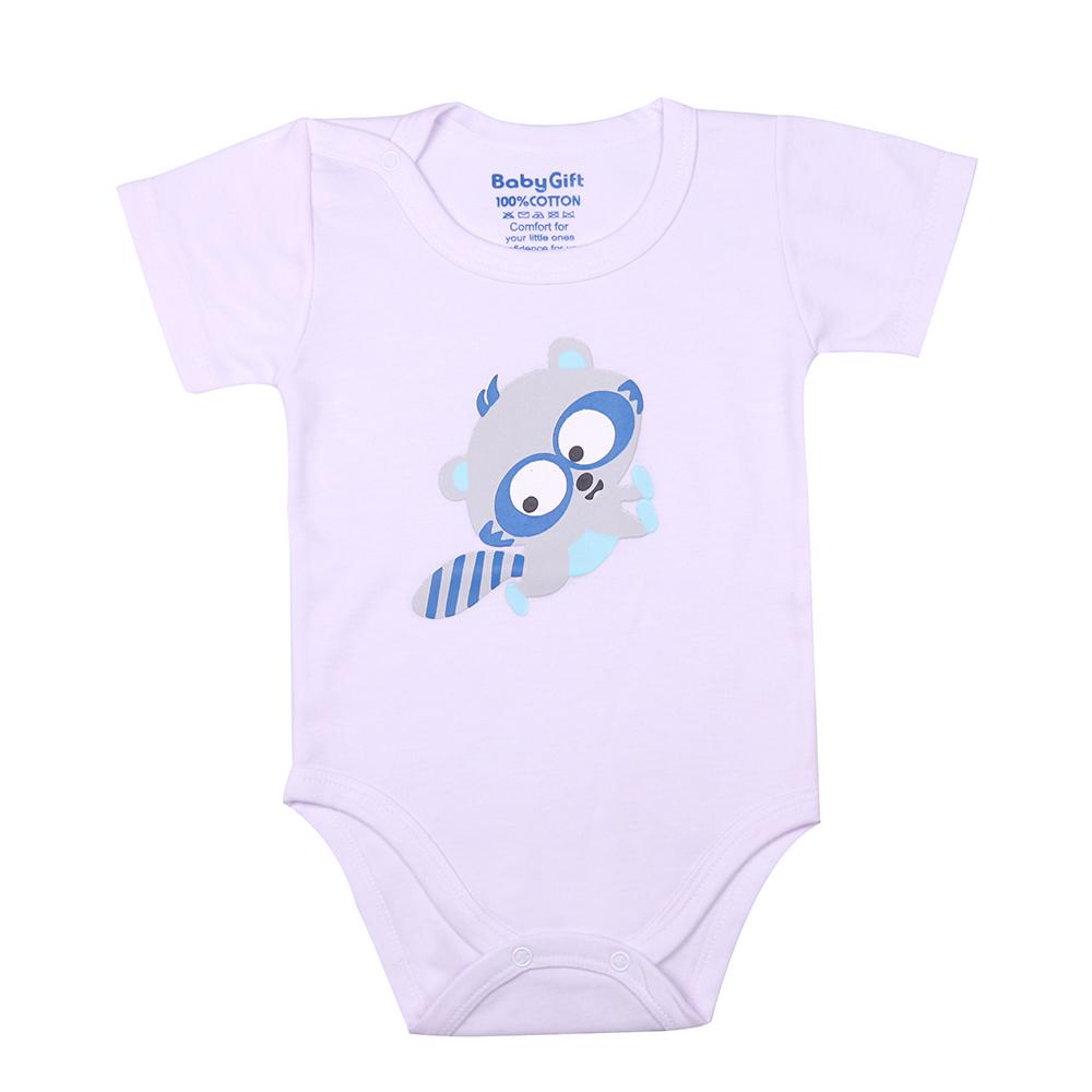 ست 3 تکه لباس نوزادی بی بی گیفت طرح راکون کد 558