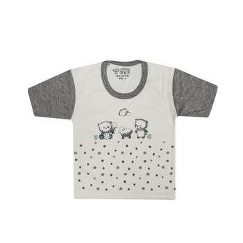 تی شرت آستین کوتاه نوزادی مدل 988830GY
