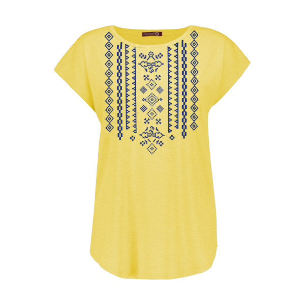 تی شرت زنانه افراتین کد 2551 رنگ زرد