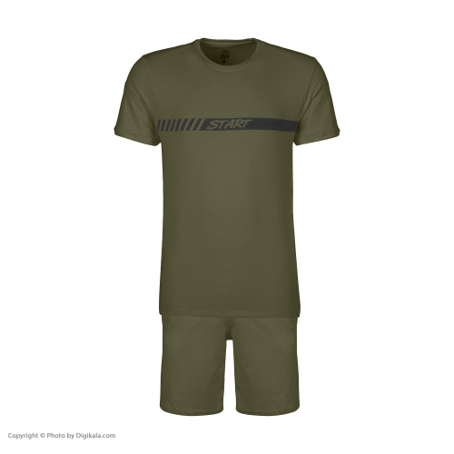 ست تی شرت و شلوارک ورزشی مردانه استارت مدل 2111125-46