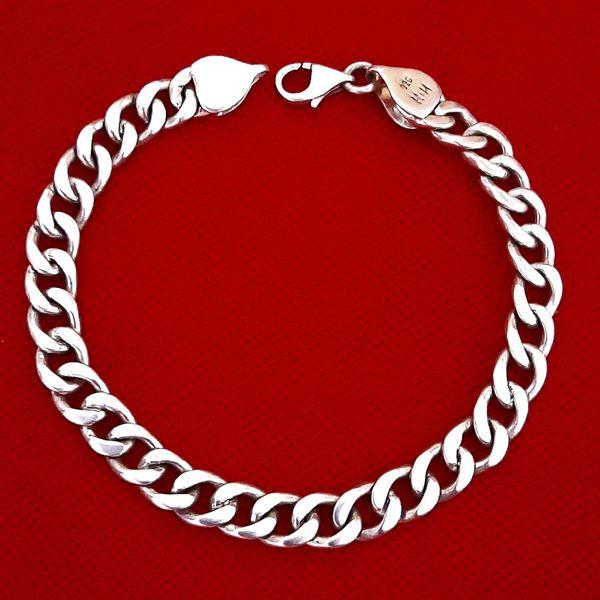 دستبند نقره مردانه کد HK3000