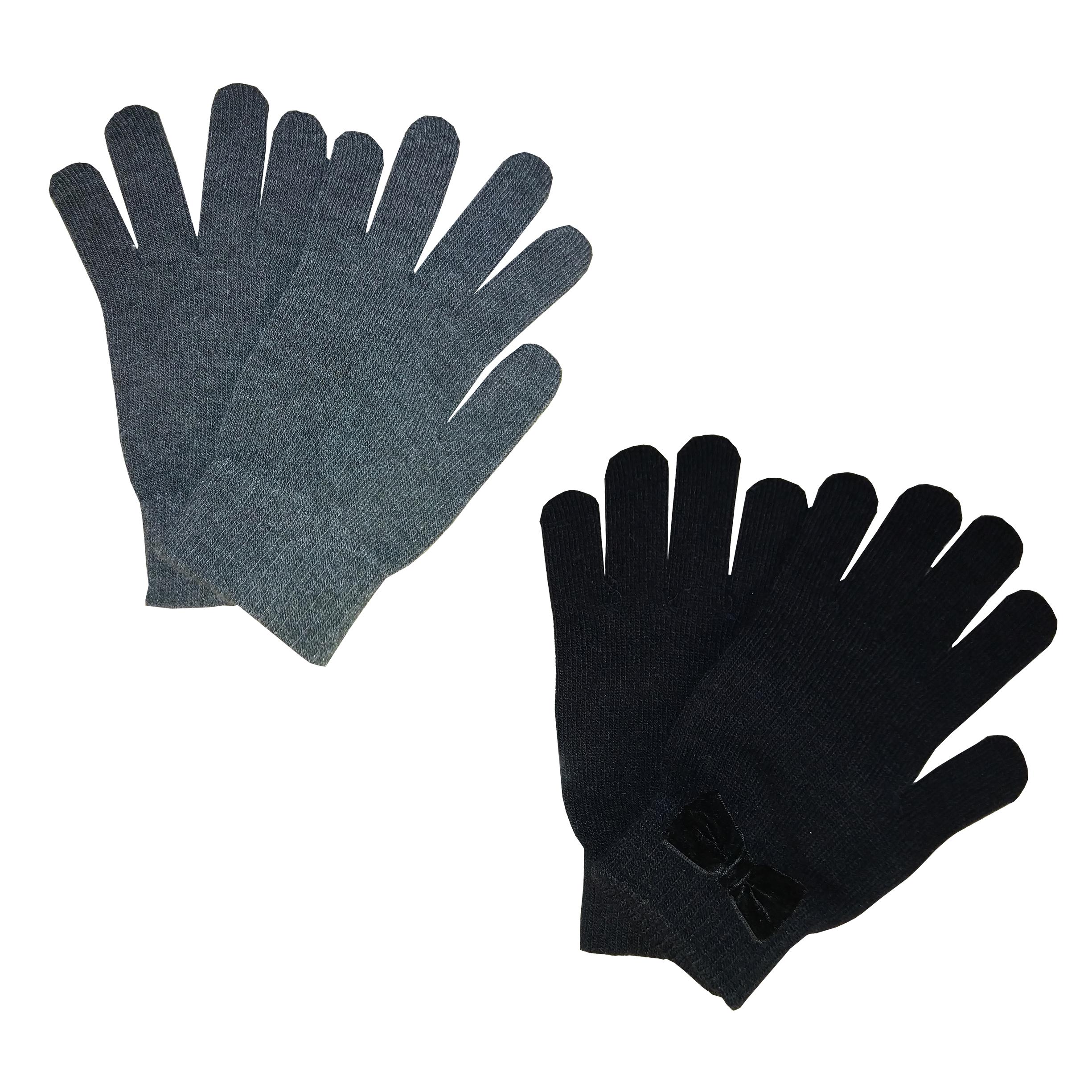 دستکش بافتنی زنانه اچ اند ام مدل 102 مجموعه دو عددی
