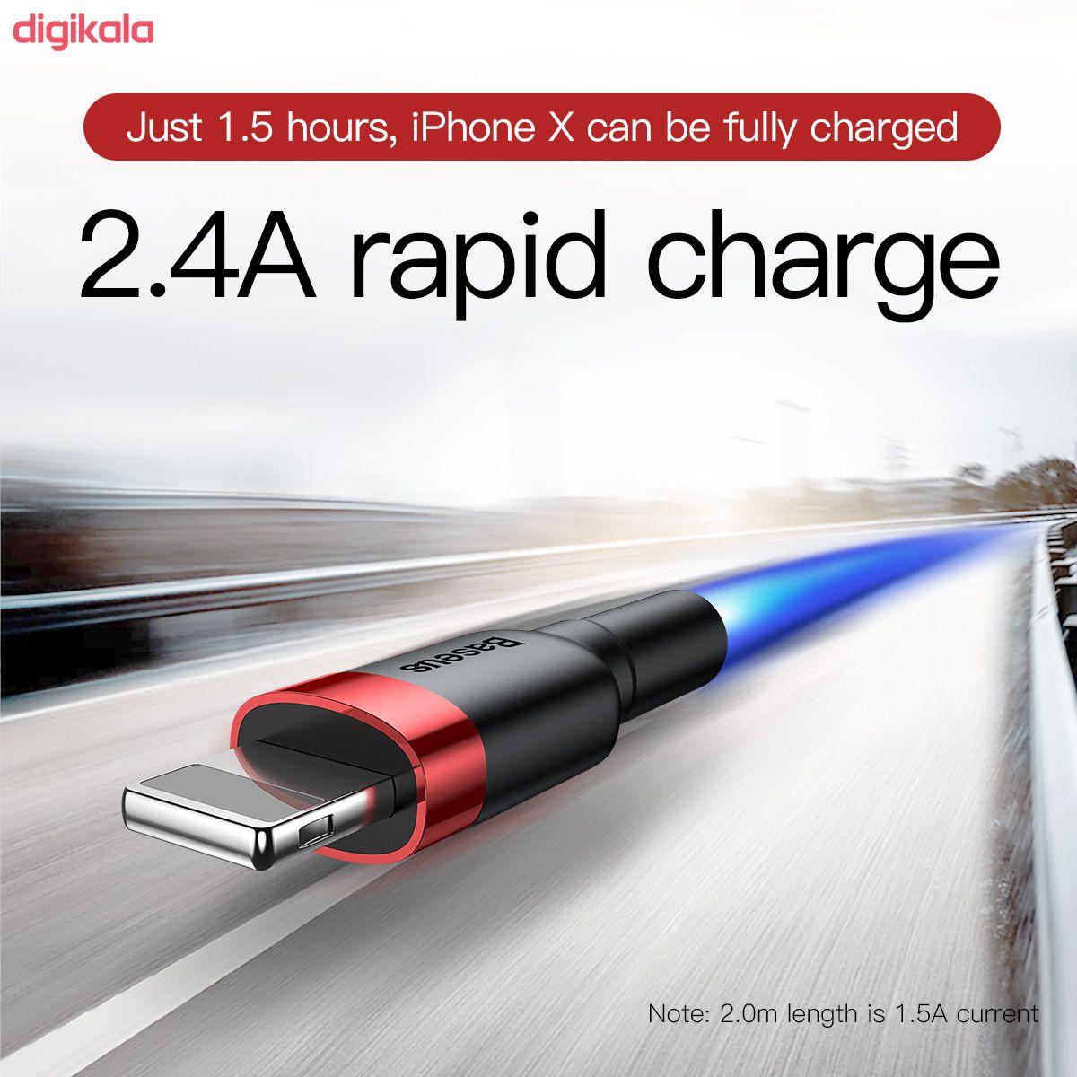 کابل تبدیل USB به لایتنینگ باسئوس مدل CALKLF-C19 Cafule طول 2 متر main 1 12