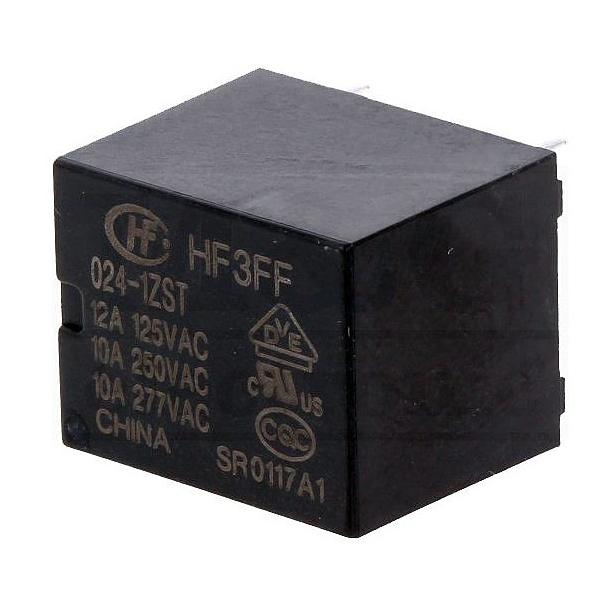 رله 5 پایه هونگفا کد HF3FF/024 بسته دو عددی