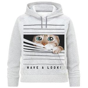 هودی پسرانه طرح گربه کد F243