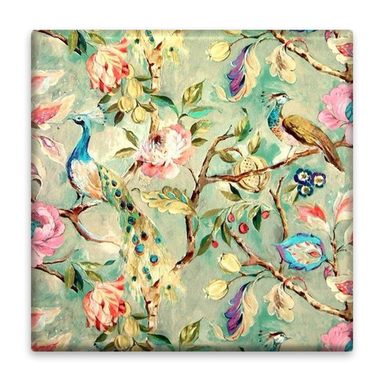کاشی عصر بوژان مدل گل و طاووس کد 5.103