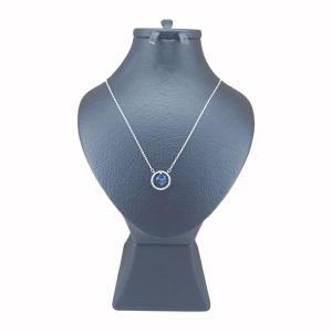 گردنبند نقره زنانه سواروسکی مدل مکعب کد 1