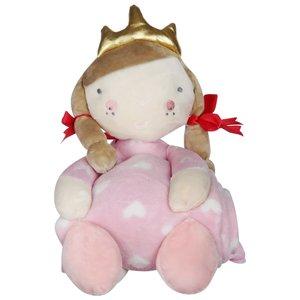 پتو نوزاد طرح پرنسس سایز 75x 75 سانتی متر به همراه عروسک