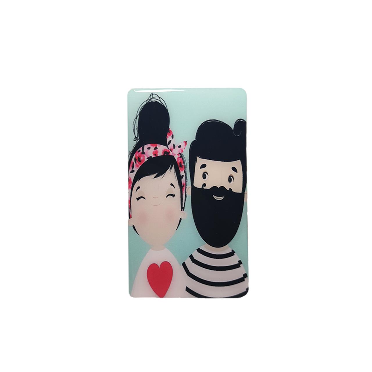 استیکر تزئینی موبایل طرح Boy & Girl کد 1