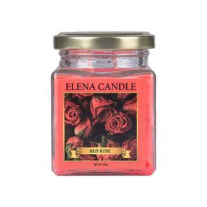 شمع لیوانی النا مدل رز قرمز کد 120g