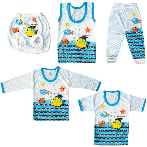 ست 5 تکه لباس نوزادی کد C15