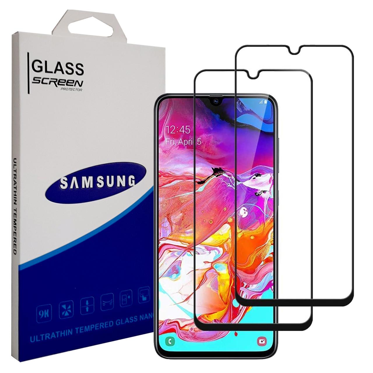 محافظ صفحه نمایش مدل YGA700 مناسب برای گوشی موبایل سامسونگ Galaxy A70 بسته دو عددی thumb