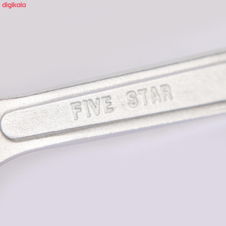 آچار فرانسه فایو استار مدل FS 8 سایز 8 اینچ main 1 5
