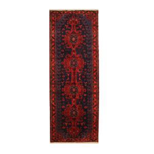 فرش دستبافت قدیمی کناره طول چهار متری کد 111