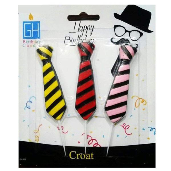 شمع تولد طرح کراوات بسته 3 عددی