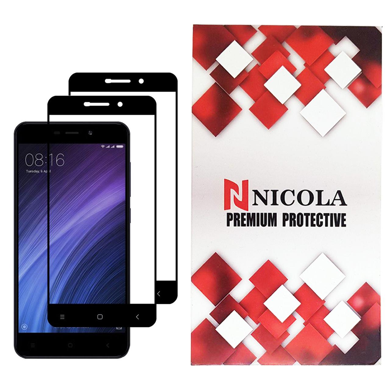 محافظ صفحه نمایش نیکلا مدل N2_9 مناسب برای گوشی موبایل شیائومی Redmi 4A بسته دو عددی