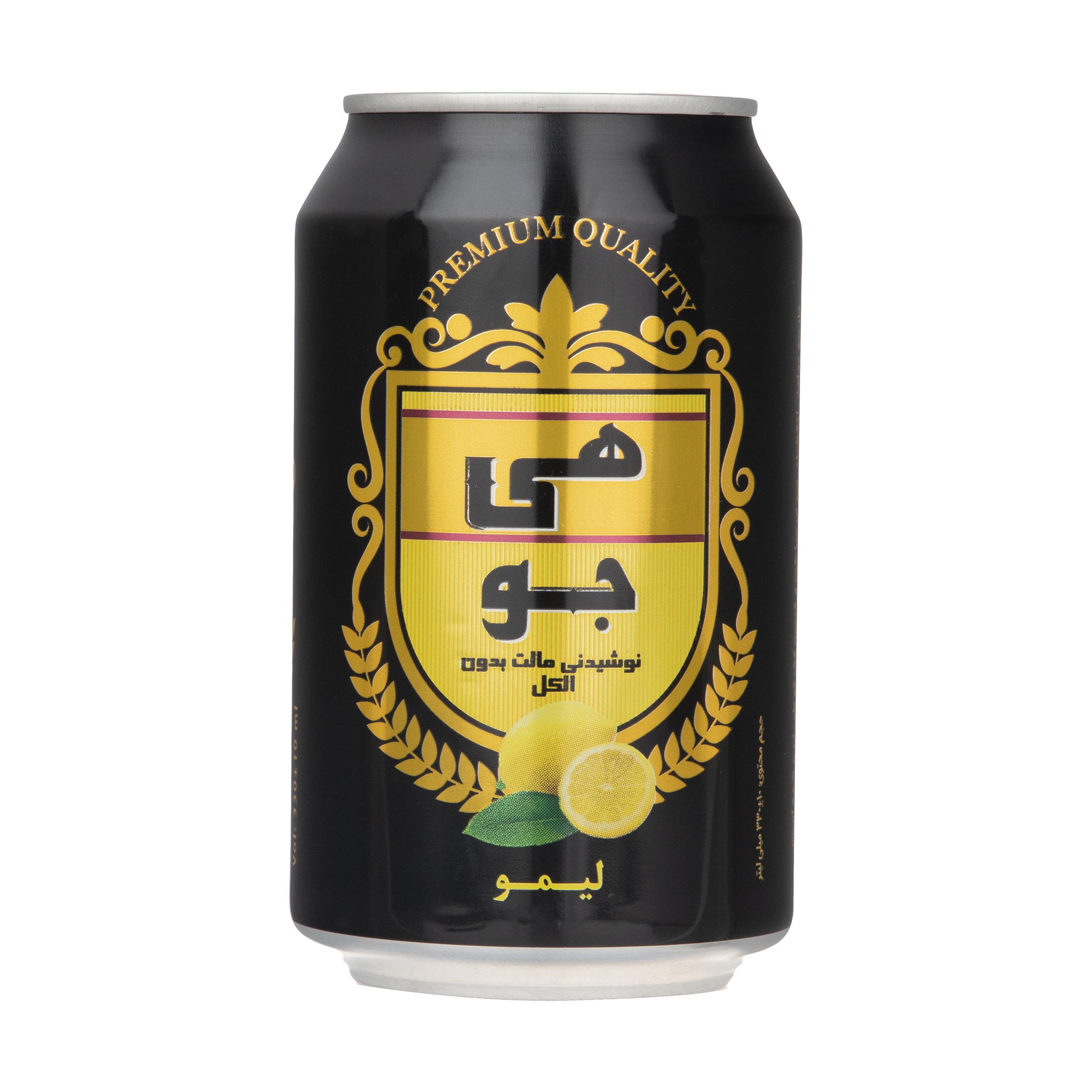 نوشیدنی مالت هی جو با طعم لیمو - 330 میلی لیتر