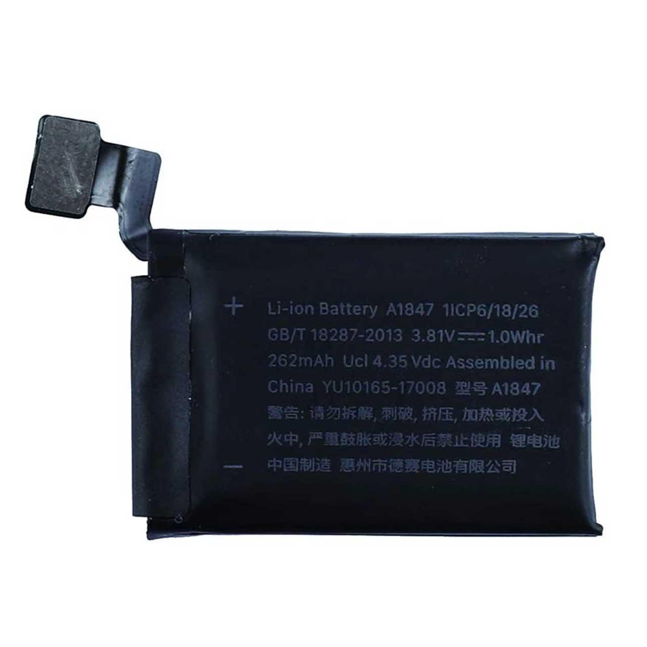 باتری مدل A1847 ظرفیت 262 میلی آمپر ساعت مناسب برای اپل واچ 38 میلی متری