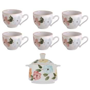 سرویس چای خوری 8 پارچه طرح بهار گل ها