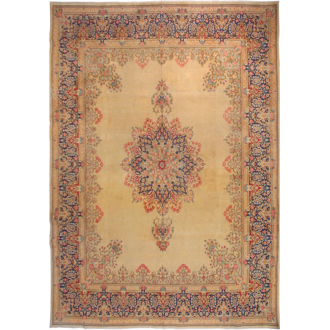 فرش قدیمی دستبافت هشت متری فرش هریس کد 101469
